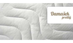 Damaškový prošitý potah na matraci 80x200 cm