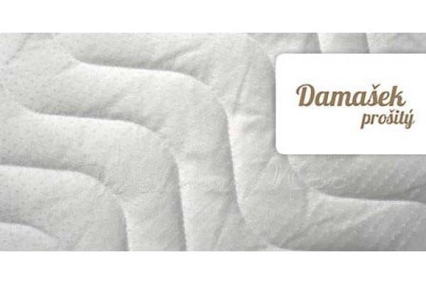 Damaškový prošitý potah na matraci