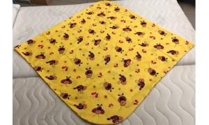 Povlak na péřovou zavinovačku Berušky žluté