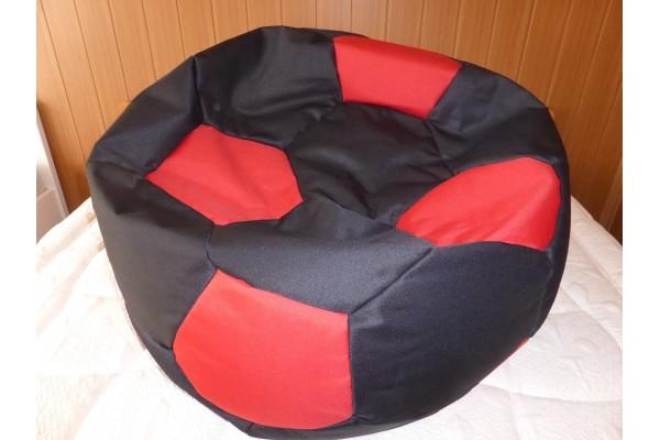 Relaxační vak Fotbalový míč černo-červený