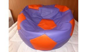 Relaxační vak Fotbalový míč fialovo-oranžový