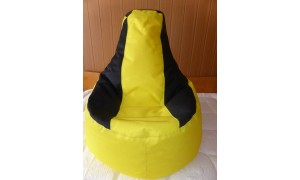 Relaxační vak Křeslo žluto-černý