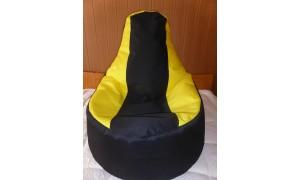 Relaxační vak Křeslo černo-žlutý