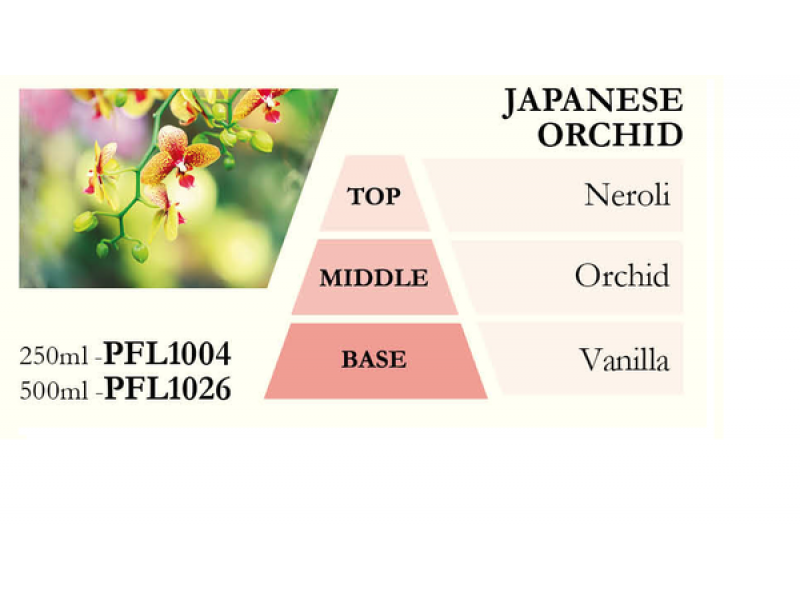 Náplň do katalytické lampy JAPANESE ORCHID (japonská orchidej), 500 ml