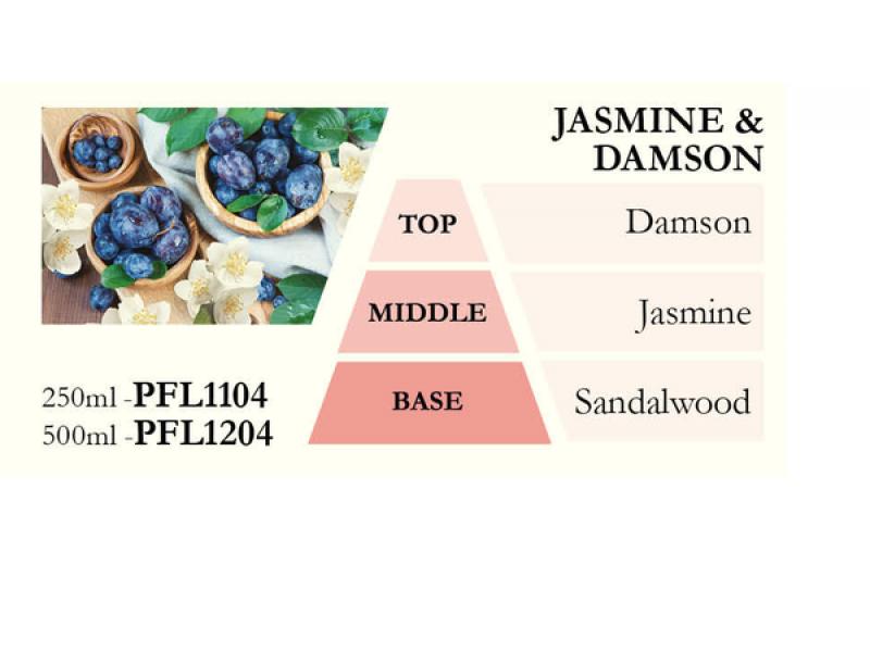 Náplň do katalytické lampy JASMINE a DAMSON (jasmín a švestka), 500 ml