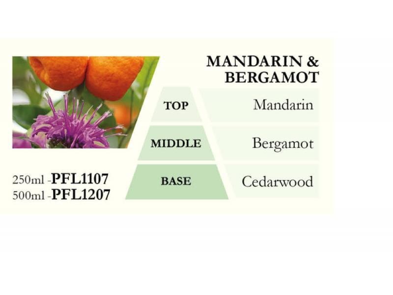 Náplň do katalytické lampy MANDARIN a BERGAMOT (mandarinka a bergamot), 500 ml