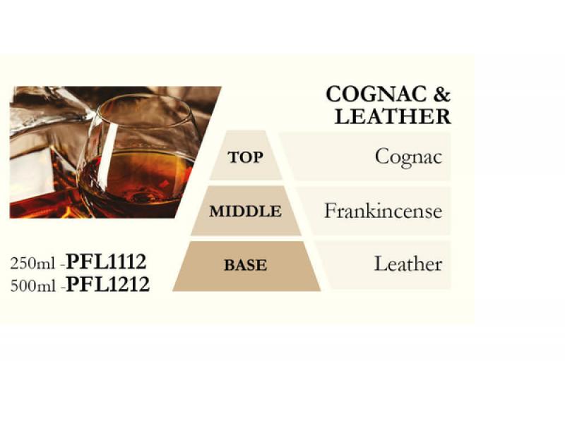 Náplň do katalytické lampy COGNAC a LEATHER (koňak a kůže), 500ml
