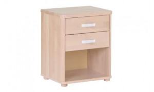 Noční stolek Robin 2 zásuvky buk cink