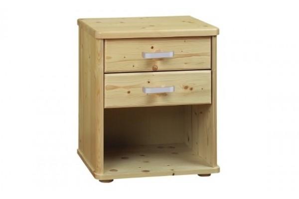 Noční stolek Robin 2 zásuvky smrk